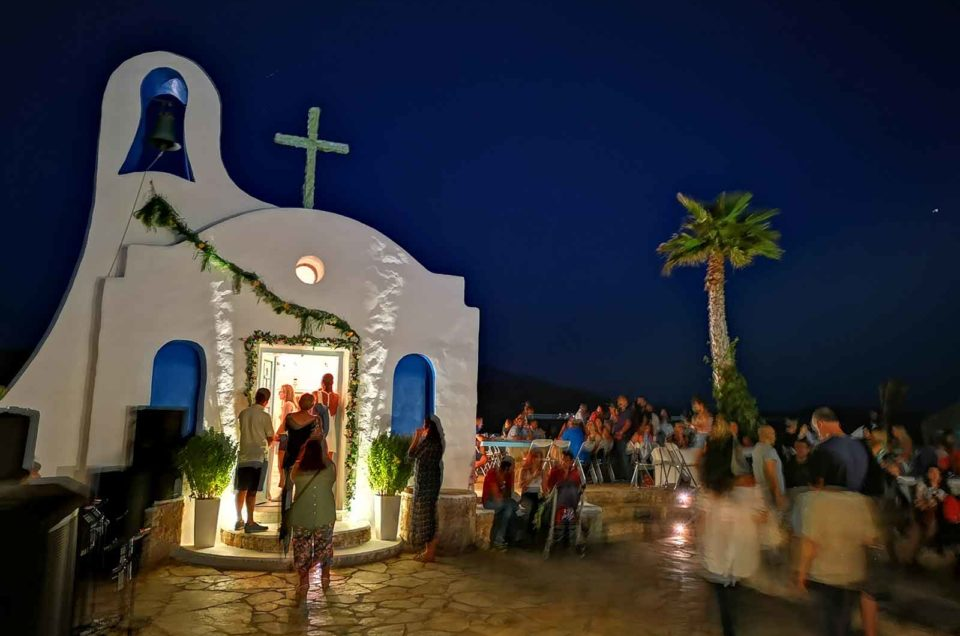 Celebrating the church of Agia Paraskevi in Ios Island